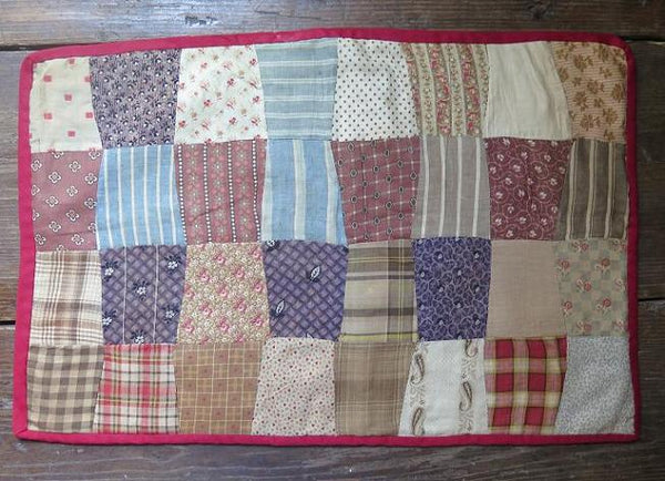 19th Century Doll quilt Nice Primitive Colors