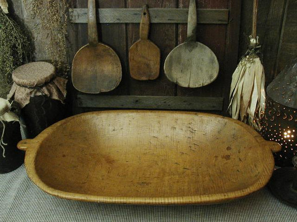 Antique Primitive Maple Dough Bowl Trencher