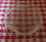 Antique Farmhouse Wire Egg Basket in White Paint