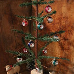 Authentic German Feather Tree and German Indent Ornaments Beautiful