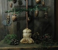 Antique Inspired Feather Tree with Acorns Pine cones Rustic Accents