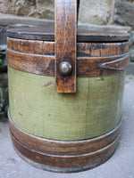 Early Firkin in Apple Green Paint Neat