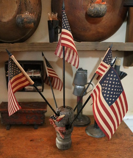 Primitive Flag Holder Unique and One of A Kind