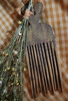 Primitive Flax Comb Homespun Towel Gathering Unique