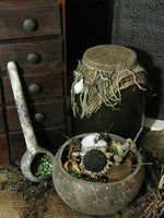 Primitive Gourd Bowl and Dipper Spoon Gathering Great Cabin Look
