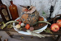 Gourd Jar Removable Lid Serving Plate Autumn Gathering