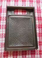 Primitive Antique Tin Grater 1800's Unusual Form