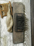 Antique Hatchel Hetchel Flax Comb Handmade Spinning with Flax Braid