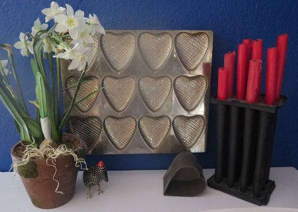 Antique Chocolate Heart Mold