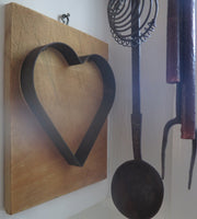 Antique Primitive Heart Form Mounted Neat
