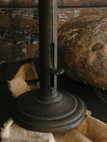 Antique Hogscraper Candlestick with Early Style Candle