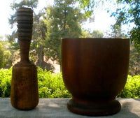 Antique Primitive Mortar and pestle For Your Buttery