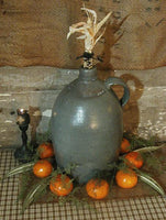 19th Century Stoneware Jug Great Form with Corncob