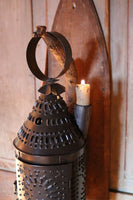 Primitive Lantern with Candle Socket and Hanging Board
