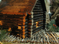 Antique Artisan Made Primitive Log Cabin from Virginia's Eastern Shore Fabulous Folk Art Appeal