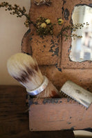 Antique Brush and Comb Wall Box with Accessories