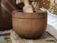 Mortar and Pestle Footed Warm Patina