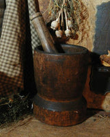 Antique Early Mortar and Pestle Best Surface