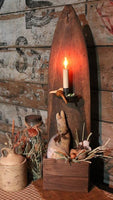 Primitive Pelt Stretcher Wall Box Lights Up