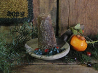 Primitive Christmas Antique Tin Sugar Bucket with Authentic Sugar Cone and Paddle