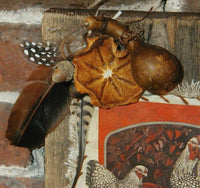 Autumn Speckled Hen sign on Old Wood Fun and Unusual