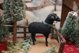 Rare Black Putz Sheep Minty and German Fence