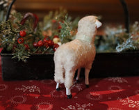 Putz Sheep in Old Spice Caddy Neat Christmas Gathering
