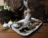 Rabbit Ironstone Platter Cookie Cutters Primitive Easter Gathering