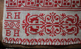 Dutch Marking Sampler Turkey Red Thread dated 1891