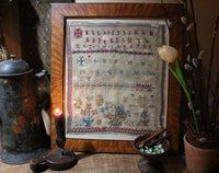 Dutch Sampler 19th Century Marking and Pictorial