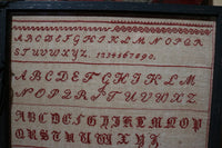 Marking Sampler dated 1853 Signed Knopf Continental