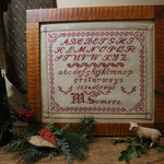 Marking Sampler Dutch signed M Somers Turkey Red Stitching