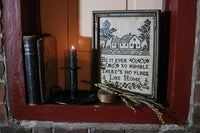 Sampler Endearing Home Saying and Push Up Tole Candlestick