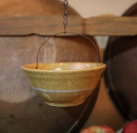 Out of Balance Scale Yelloware Bowl Gathering ~Reflects the Times~