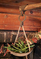 Primitive Hanging Scale With Gourd Bowls Fabulous