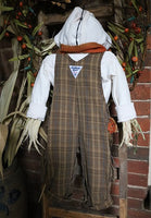 Scarecrow Gourd Primitive Door Hanger Lights Up Neat
