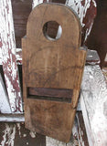 Antique 1800's Primitive Slaw Cutter Square Nail Construction and Tombstone Handle