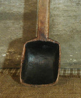 Antique Dough Bowl Primitive Spoon Notched End Fabulous with Surprise