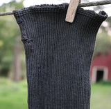 Old Ladies Stockings Extra Long Midnight Black