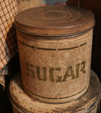 Stenciled Flour Sugar Coffee Old Tin Canisters Oyster Paint