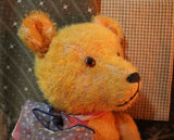German Petz Jointed Golden Mohair Bear with Growler Adorable