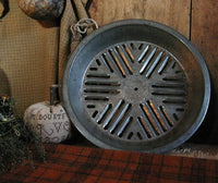 Primitive Old Tin Jug Pie Pan Autumn flavor