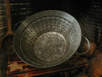 Antique Tin Farmhouse Strainer Primitive Gourds Lit with Fall Flavor Neat