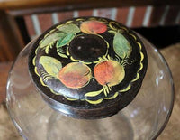 Apothecary Jar Tole Painted Tin Lid Unique