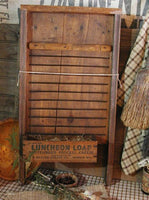 Primitive Antique Washboard Scrub Brush Gathering Neat