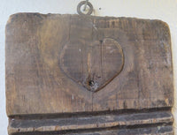 Early Primitive Wooden Washboard With Heart Design