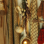 Primitive Gourd with Tea Light and Winter Christmas Greens Fabulous