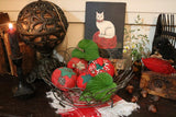 Wire Basket Vintage Tomato Folklore Pincushions