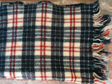 Old Wool Lap Blanket Hand Woven Red White and Blue