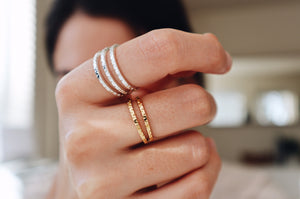 Textured Stacking Ring